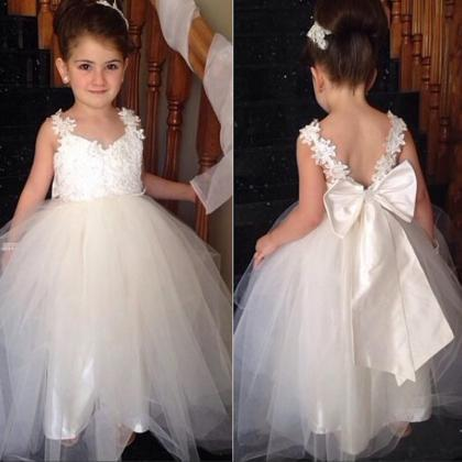 Ball Gown Little Girls Dress V Neck..