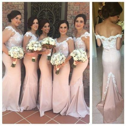 Long Bridesmaid Dresses, Mermaid Bridesmaid Dress, Unique ...