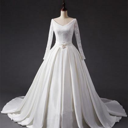 Latest design wedding dress, lace w..