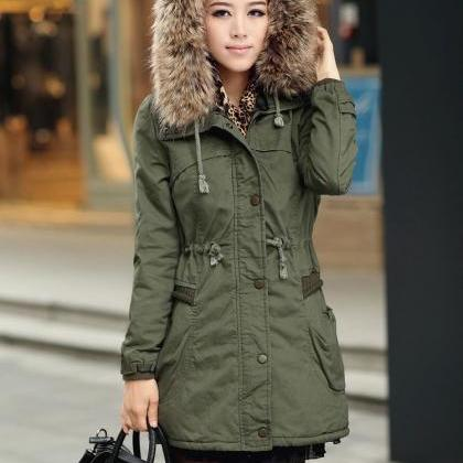 Army Green Women Jacket ,Women Coat