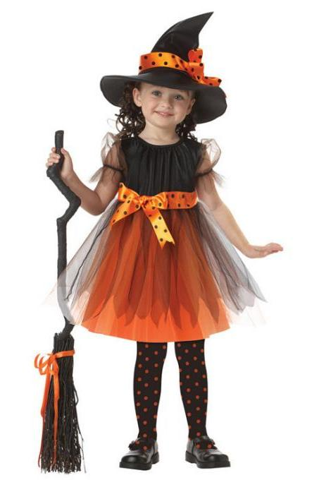 The new children's Halloween costume for cosplay party miko to performance clothing witch princess dress