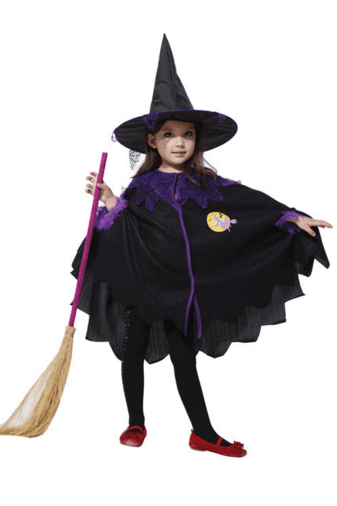 Children's Halloween costumes girls role play cosplay costume small witch witch on the party,The new children's Halloween costume for cosplay party