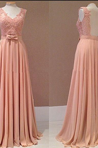 V- Neck Prom Dresses ,Fashion Prom Dresses , Backless Prom Dresses, Actual Image Prom Dresses , Chiffon Prom Dresses ,Floor Length Long Prom Dresses ,Applique Prom Dresses , Lace Evening Gowns