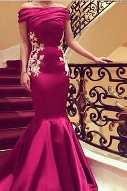 Evening Dress, Prom Dress,Boat Neck Evening Dress, Cap Sleeve Evening Dress, Appliques Evening Dress, Long Evening Dress,Formal Evening Dress, Mermaid Evening Dress, Plus Size Evening Dress, Elegant Evening dress,Elegant Evening Dress,Party Dress ,Evening Dress 2017