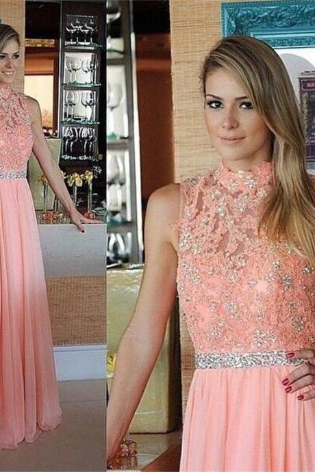 Evening Dress, Prom Dress,High Neck Evening Dress, Sleeveless Evening Dress, Appliques Evening Dress, Long Evening Dress,Formal Evening Dress, Mermaid Evening Dress, Plus Size Evening Dress, Chiffon Evening dress,Elegant Evening Dress,Party Dress ,Beaded Evening Dress,Evening Dress 2017