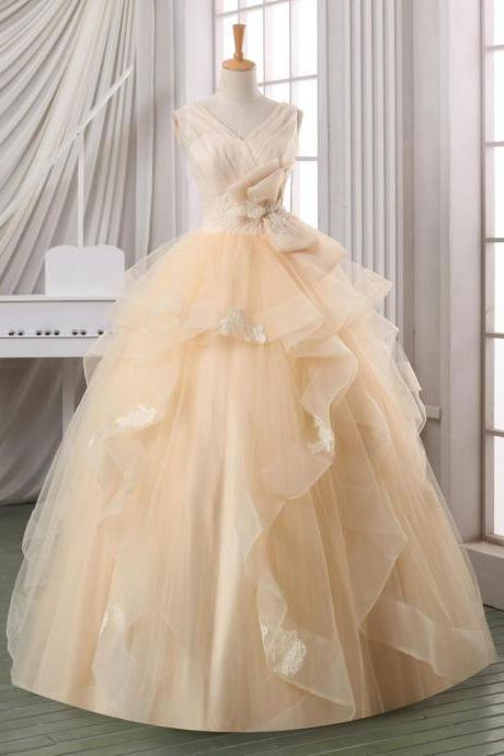 Elegant Wedding Dresses,High Collar Wedding Dresses, Ball gown backless wedding dress,pleated tulle V neck wedding dress,plus size wedding dress,cheap wedding dress,wedding gown,bridal dress