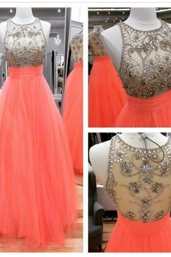 Sleeveless Jewel Neck Iullsion Above Aline Prom Dress With Crystals Sequins Dress 2016 Long Special Dress Fashion Style Bling Dress Sparked