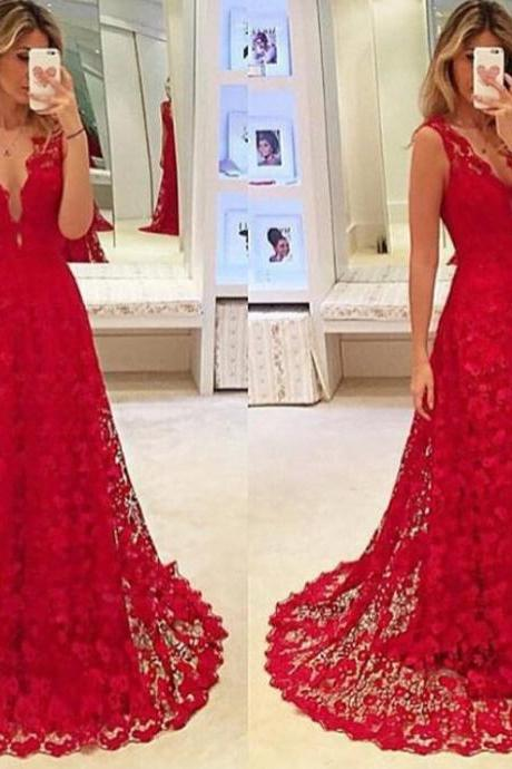 High Quality wedding Dress,lace wedding dress Cocktail Evening Gown For Wedding Party The tail wedding dress, red wedding dress