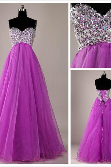 Heart neckline Prom Dress beading Prom Dress long prom dress Fashion Prom Dresses Prom Dress Cocktail Evening Gown For Wedding Party