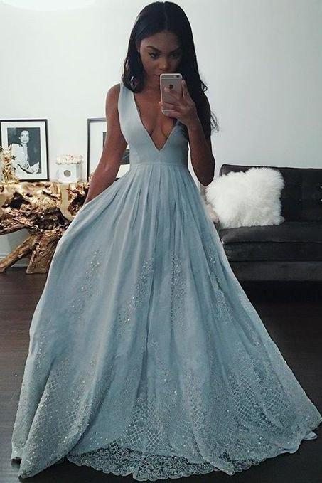 Charming Prom Dress, Sexy Scoop Neck Prom Dress, Sexy Evening Dress, Lace Prom Dress, Spaghetti Straps Formal Dress, Woman Formal Gown, Woman Lace Dress, Slit Party Dresses, New Arrival Prom Dress
