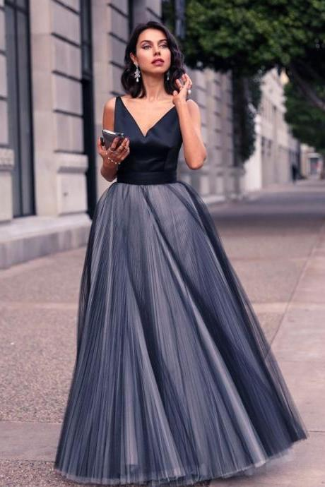 Prom Dress, Navy Blue Prom Dresses,Prom Dress,Sexy Prom Dress,Dark Navy Prom Dresses,Formal Gown,Tulle Evening Gowns,Party Dress,Prom Gown For Teens,Formal Dress
