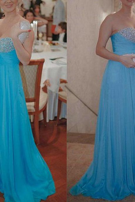 Prom Dress, Evening Dresses,Sweetheart Evening Dresses,Custom Evening Dresses,Blue Evening Dresses,Cheap Evening Dresses,Beaded Evening Dresses,Sequined Evening Dresses,Chiffon Evening Dresses,Dresses for Evenin,Formal Dress