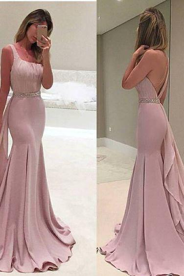 Pink Prom Dresses,chiffon Prom Gowns,Pink Prom Dresses,Long Prom Gown,Mermaid One Shoulder Prom Dress,Evening Gown,party Gown, Formal Occasion Dresses,Formal Dress