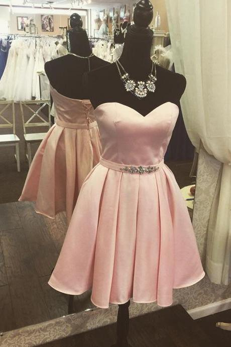 Homecoming Dress,Blush Pink Homecoming Dresses,Sweet 16 Dress,Sexy Homecoming Dress,Cute Cocktail Dress, Formal Occasion Dresses,Formal Dress