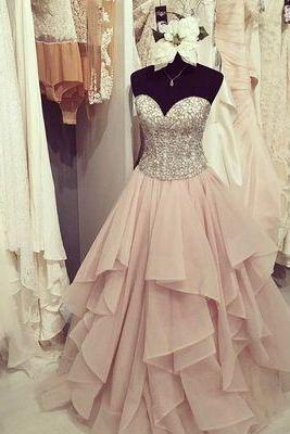 Prom Dress,Sexy Gorgeous sweetheart ruffled long prom dress,evening dresses,Formal Dress,Evening Dress,Wedding Guest Prom Gowns, Formal Occasion Dresses,Formal Dress