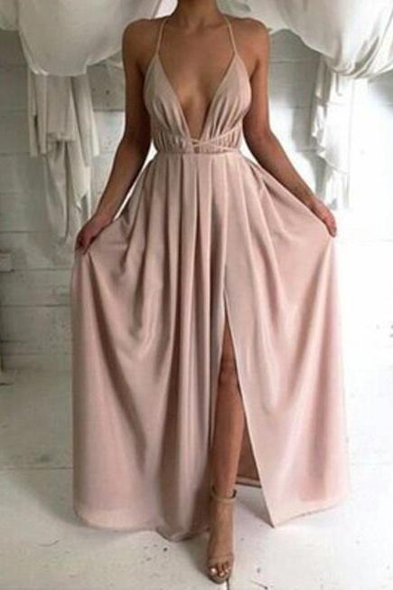Long prom dresses, simple prom dresses, cheap prom dress, chiffon prom dress, backless prom dress, sexy prom dress, on sale prom dress, summer dress, beach dress