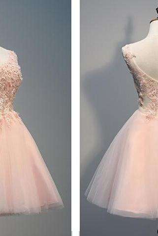 short homecoming dress, blush pink prom dress, off shoulder v-neck prom dress, cheap homecoming dress, blush pink prom dress, junior homecoming dress, graduation dress,