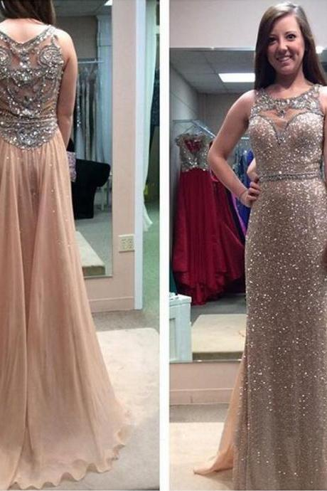 Beading Prom Dress, Sparkly Prom Dress, 2016 Prom Dress, Long Prom Dress, Junior Prom Dress, Sequin Prom Dress, Unique Prom Dress, Evening Dress