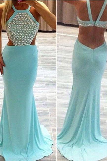 Long prom dress, blue prom dress, sexy prom dress, cheap prom dress, backless prom dress, popular prom dress, occasion dress,