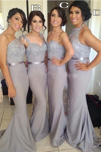 long bridesmaid dress, mermaid bridesmaid dress, mismatched bridesmaid dress, sexy bridesmaid dress, elegant bridesmaid dress