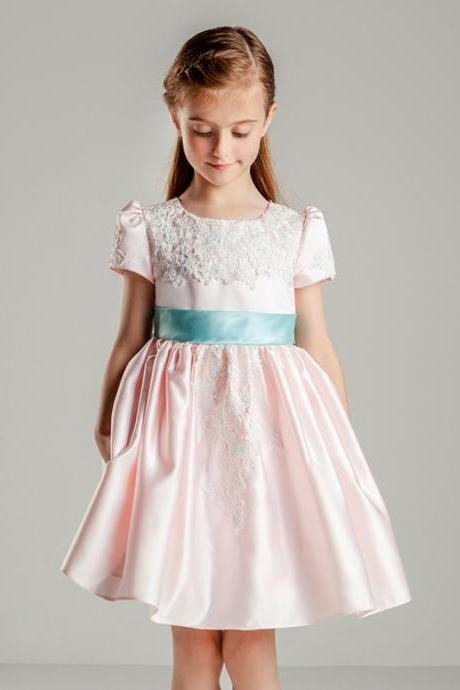 Children Dress,Flower Girls Dresses,Kids Dress,Child Clothing,Girl Brithday Party Dress,Princess Dress,Girl Party Dress,Flower Girls Dresses Lace Taffeta Kids Girls First Communion Dress Party Dress