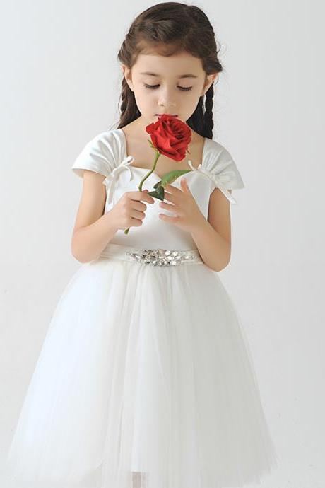Children Dress,Flower Girls Dresses,Kids Dress,Child Clothing,Girl Brithday Party Dress,Princess Dress,Girl Party Dress,bridesmaid DressFlower Girls Dresses Cap Shoulder Kids Girls First Communion Dress Party Dress