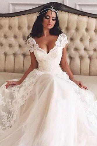 Latest design wedding dress, lace wedding dress, vintage wedding dress,New Mermaid White/Ivory Beaded Wedding Dress Bridal Gown Custom bride wedding gown, long wedding dress