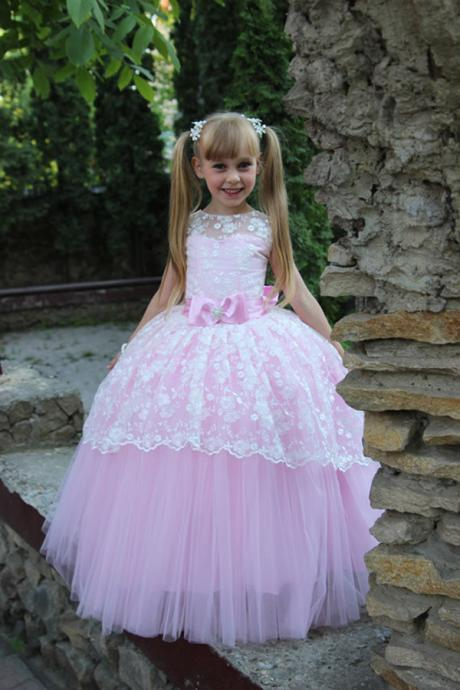 Hot Sale 2016 Colorful Toddler Ball Gown Elegant Flower Girl Dress for Wedding Party Dresses