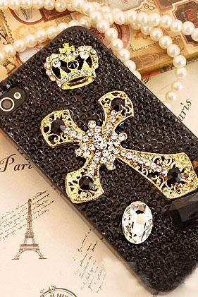 6c 6s plus Crowne Cross Hard Back Mobile phone Case Cover bling black crystal Rhinestone Case Cover for iPhone 4 4s 5 7 5s 6 6 plus Mobile phone Case Cover bling girly Rhinestone Case Cover for iPhone 4 4s 5 7plus 5s 6 6 plus