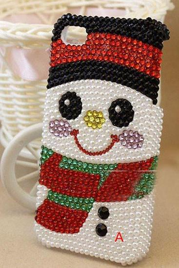 6c 6s plus Christmas snowman diamond Hard Back Mobile phone Case Cover bling Rhinestone Case Cover for iPhone 4 4s 5 7 5s 6 6 plus Cover bling girly Rhinestone Case Cover for iPhone 4 4s 5 7plus 5s 6 6 plus