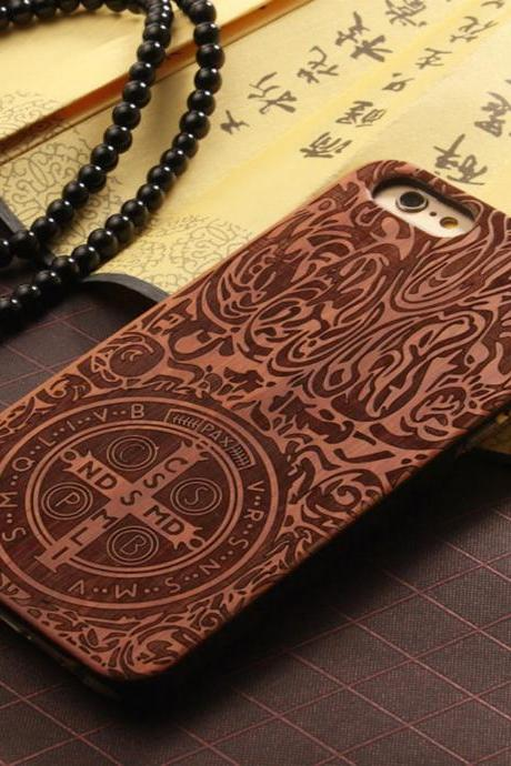 Luxury Natural Wood Wooden Bamboo Hard Cover Phone Case For Apple Iphone 6/6s/Plus, Constance Dante