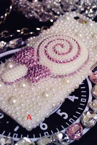 6s plus 6c Pearl Rhinestone floral love Hard Back Mobile phone Case sweet lollipop stick pearl diamond Cover bling Case Cover for iPhone 4 4s 5 7plus 5s 6 6 plus Mobile phone Case Cover bling girly Rhinestone Case Cover for iPhone 4 4s 5 7plus 5s 6 6 plus