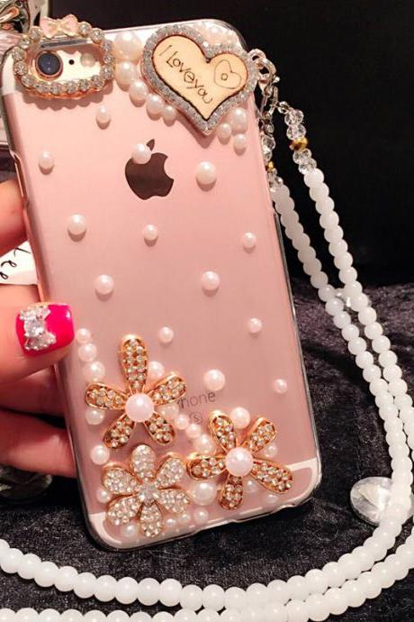 6s plus 6c Pearl Rhinestone floral love Hard Back Mobile phone Case Cover bling Case Cover for iPhone 4 4s 5 7plus 5s 6 6 plus Mobile phone Case Cover bling girly Rhinestone Case Cover for iPhone 4 4s 5 7plus 5s 6 6 plus