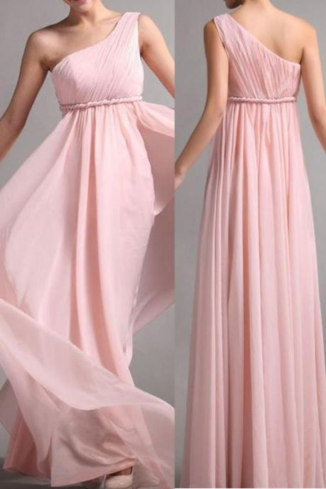 Chiffon Bridesmaid Dress ,Simple Bridesmaid Dress,Elegant Bridesmaid Dress,One Shoulder Bridesmaid Dress, Long Graduation Dress, Wedding Party Dresses,Long Bridesmaid Dress ,Bridesmaid Dresses,Custom Bridesmaid Dress,