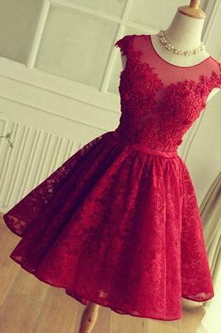 short prom dress,red homecoming dress ,lace homecoming dress ,lovely homecoming dress ,junior prom dress ,cheap prom dress , Cocktail Dresses, Graduation Dress,Homecoming Dress,