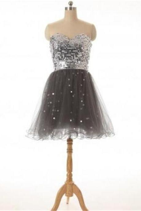 Sweetheart Homecoming Dress, Simple Dress ,Sparkly Homecoming Dress ,Hot Selling Prom Dress, Cocktail Dresses, Graduation Dress,Homecoming Dress