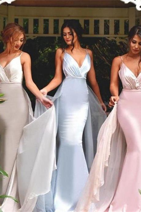 V-neck Bridesmaid Dresses,Mermaid Bridesmaid Dress,Sexy bridesmaid dress,Unique bridesmaid dress, Wedding Party Dresses,Long Bridesmaid Dress,Bridesmaid Dresses,Bridal Gowns,s,Homecoming Dress,