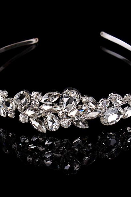 wedding jewelry , crown ,Diamond jewelry,Flash jewelryedd,The new fashion in Europe and the bride hair hoop dress import crystal crown head band The bride headdress hair