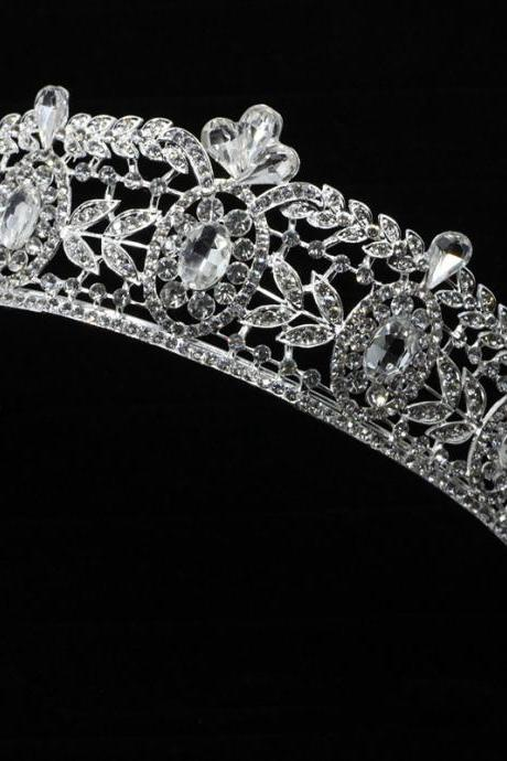 wedding jewelry , crown ,Diamond jewelry,Flash jewelryedd,The bride wedding dress crystal crown Diamond crownThe bride beautiful baroque Korean high-grade alloy diamond gorgeous luxury bride crown hair accessories Marriage act the role ofing is tasted