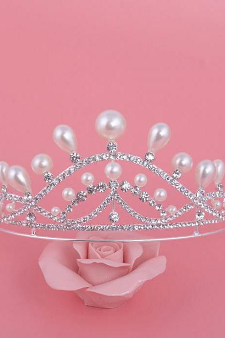 wedding jewelry , crown ,Diamond jewelry,Flash jewelryeddThe bride headdress jewelry hair crown wedding banquet Han edition children diamond hair hoop dress accessories