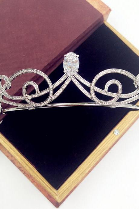 wedding jewelry , crown ,Diamond jewelry,Flash jewelryLegal system still the zircon microscope accessories married crown crown bride hair dress accessories