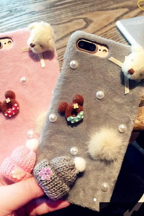 ipone case ,IPhone6case, pearl case, diamond case, costly case, 6, 6 s, plus. 6 splus, set auger, full of pearls