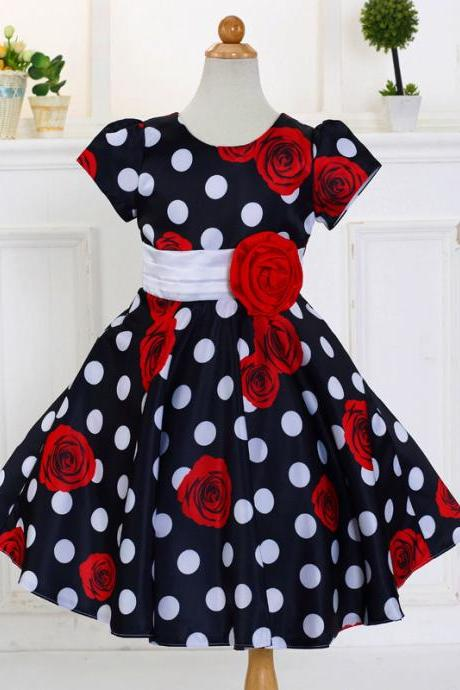 Flower Girl Dresses Flower children's clothes, , wedding flower children's clothes, bowknot flower children's clothes, beads girl's skirt