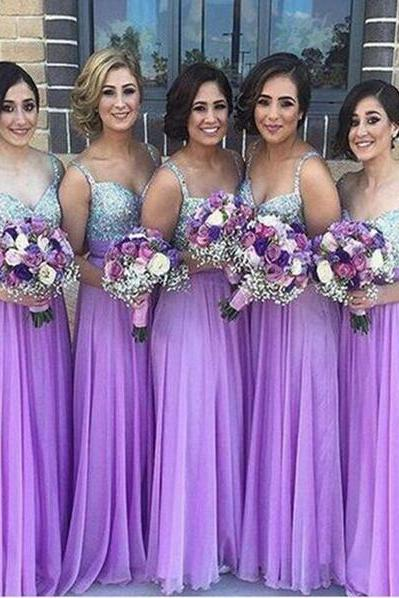 Chiffon Bridesmaid Dress,Lilac Bridesmaid Gown,Bridesmaid Gowns,Bridesmaid Dresses,Bridesmaid Gowns,2016 Bridesmaid Dress