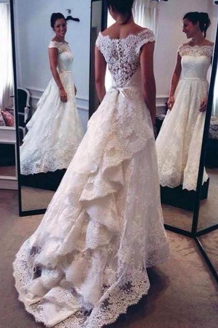 Wedding Dresses,Lace Wedding Gowns,Bridal Dress,Wedding Dress,Brides Dress,White Wedding Dresses,Long Wedding Gown,Lace Wedding Gowns,Modest Bridal Dress,Wedding Dress With Cap Sleeves,White Brides Dress,Elegant Wedding Gowns