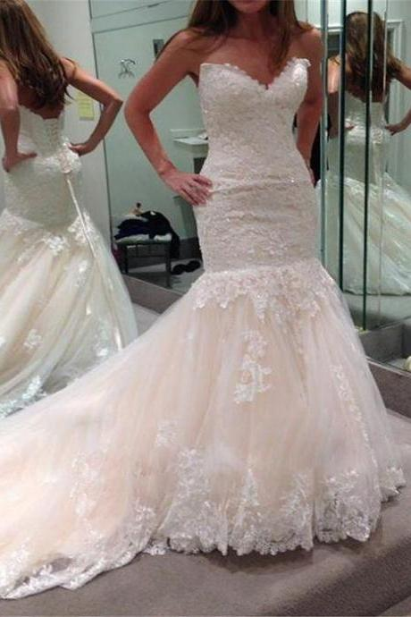 Wedding Dresses,Lace Wedding Gowns,Bridal Dress,White Wedding Dresses,Sweetheart Wedding Gown,Lace Wedding Gowns,Princess Bridal Dress,Mermaid Wedding Dress,Beautiful Brides Dress,Romantic Wedding Gowns For Spring