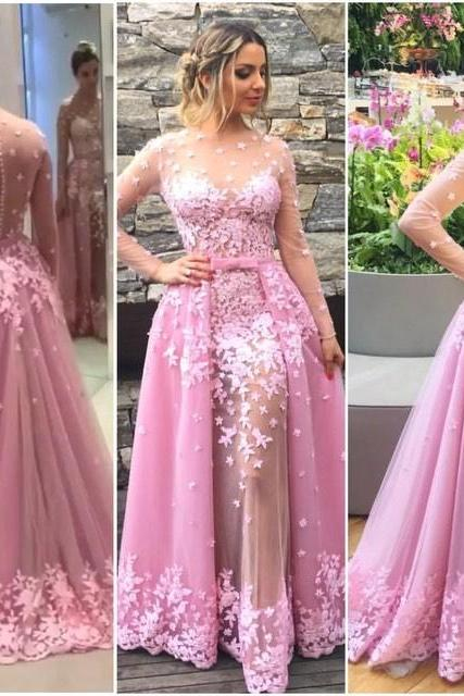 ,pulple Evening Gowns ,Lace Formal Dresses,Backless Prom Dresses,Fashion Evening Gown,Beautiful Evening Dress,Pink Formal Dress,lace Prom Gowns