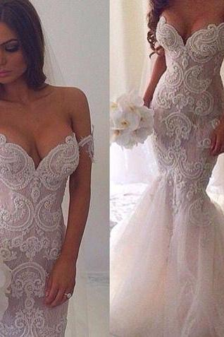 Gorgeous Wedding Dress ,Sweetheart Wedding Dress,Mermaid Wedding Dress,Sexy Wedding Dress,Lace Wedding Dress,Bridal Gown,Bridal Dress
