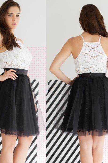 Black Lace Tulle Short Skirt Women Skirt