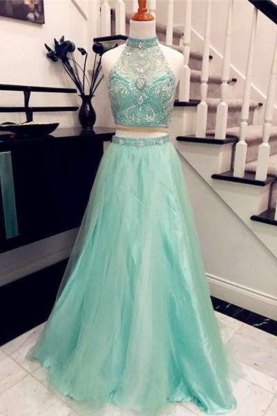 Two Pieces Charming Prom Dress,Long Prom Dresses,Charming Prom Dresses,Evening Dress Prom Gowns, Formal Women Dress